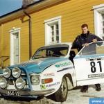 Kangasniemi Historic -ralli 2000. Yleiskisan kolmas. Kuljettaja: Tomi Tikanmäki