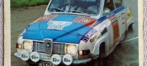 """Saab 96. """"Paras ralliauto jota koskaan on rakennettu. Monta vuotta lyömätön"""". Mikään muuhan ei teknisissä tiedoissa sitten pidäkään paikkaansa..."""
