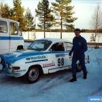 Savitaipale Historic -ralli 2001. Yleiskisan toinen. Tommolansalmen huolto. Kuljettaja: Tomi Tikanmäki