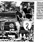 Purje-ja-moottori-1973. Simo Lampinen, Klaus Bremer ja Saab 96 Monte Carlo lähtönumerolla 2. Mutta missä ja milloin? Kyseisellä autolla Simo kuitenkin otti mm. useita jääratavoittoja.