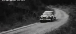 Rafu Huhta driving the Saab Sport at the 1966 Rally Of The 1000 Lakes.