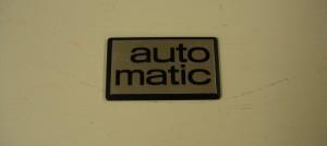 Automatic merkki takaluukkuun 70 lukuinen