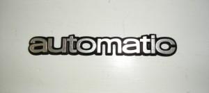 Automatic merkki takaluukkuun 80 lukuinen